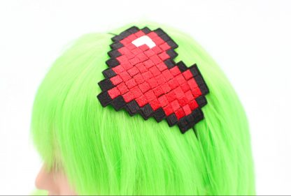 pixel 8 bit heart headband