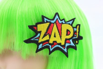 zap comic book hair clip