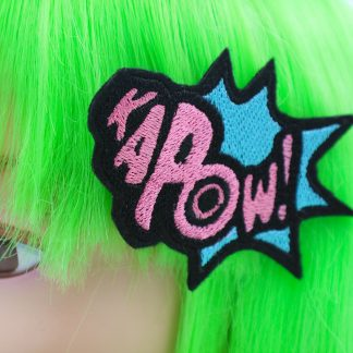 superhero hair bow kapow comic book hair clip