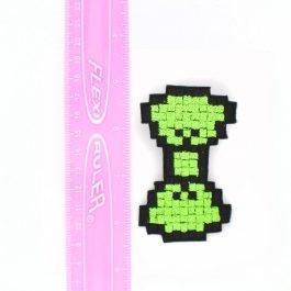 Neon Green Hair Bow – 8 Bit Pixel