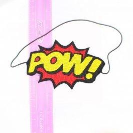 Comic Book Headband – POW! – Red and Yellow