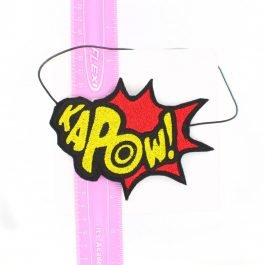 Comic Book KaPOW! Headband for Women- Red and Yellow