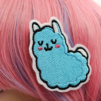 kawaii accessories llama hair clips in blue