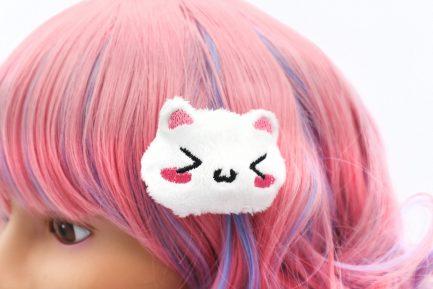 Kawaii Cat Plush Hair Clip