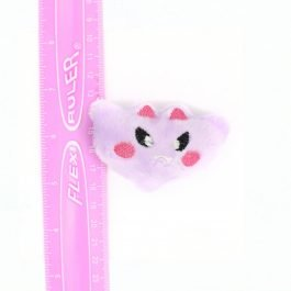 Kawaii Bat Plush Hair Clip – Lavender