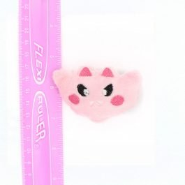 Kawaii Bat Plush Hair Clip – Pink
