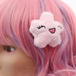 Kawaii Sakura Cherry Blossom Plush Hair Clip
