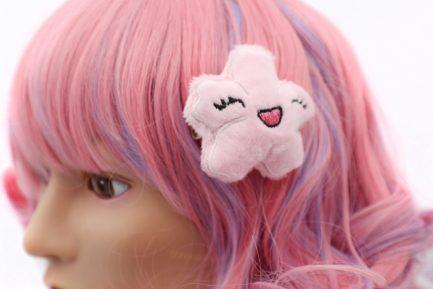 Kawaii Sakura Cherry Blossom Plush Hair Clip