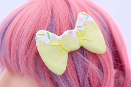 Hair Bows For Girls - Super Cute Kawaii Hair Clips -Yellow