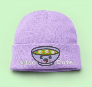 Knit Hat Kawaii Miso Cute - Lavender