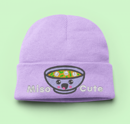 Knit Hat Kawaii Miso Cute - Lavender