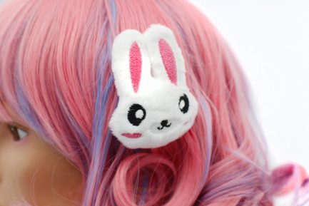 Kawaii Bunny Plush Hair Clip