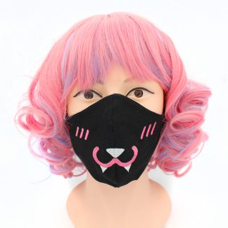 Kawaii Vampire Bunny Pastel Goth Face Mask With Filter Pocket Adult Reusable