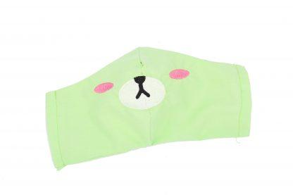 Kids Face Mask With Filter Pocket Cotton Kawaii Bear