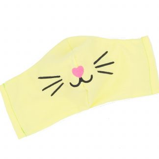 Kids Face Mask With Filter Pocket Cotton Kawaii Cat