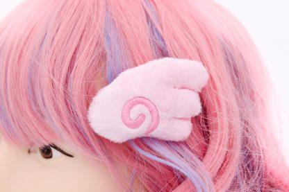 Kawaii Angel Wing Plush Hair Clip Set - Pink by Kawaii Hair Candy