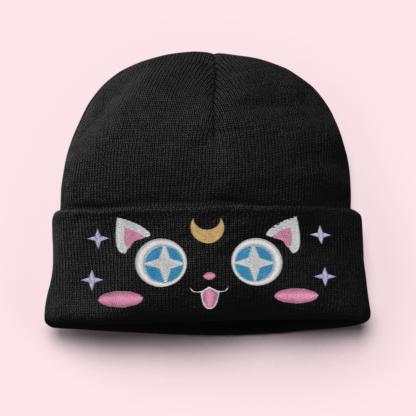 Kawaii Moon Cat Beanie Hat by Kawaii Hair Candy