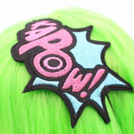 Comic Book KaPOW! Headband for Women- Pink and Blue