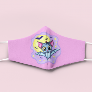 Kids Kawaii Halloween Face Mask With Filter Pocket Cotton