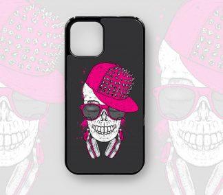 Funky Skull Designer Retro Case for iPhone 12, 12 Pro, 12 Pro Max, 11, 11 Pro, 11 Pro Max, X, XS, XR,