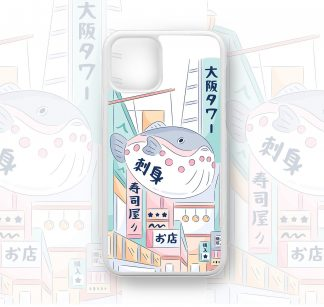 Super Cute Kawaii Whale Kanji Designer Retro Case for iPhone 12, 12 Pro, 12 Pro Max, 11, 11 Pro, 11 Pro Max, X, XS, XR, kawaii phone case