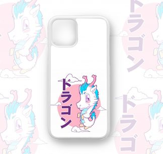 Super Cute Kawaii Dragon Kanji Designer Retro Case for iPhone