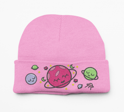 Kawaii Outer Space Alien Beanie Hat