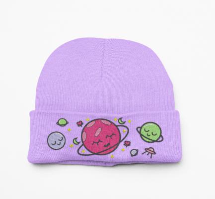 Kawaii Outer Space Beanie Hat