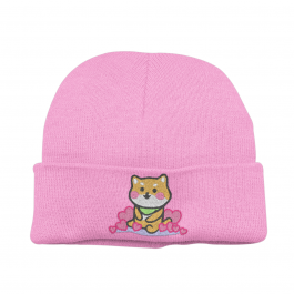 Kawaii Shiba Inu Beanie Hat – Pink