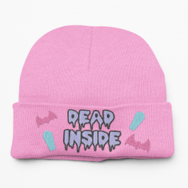 Super Cute Kawaii Pastel Goth Dead Inside Beanie Hat