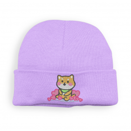 Kawaii Shiba Inu Beanie Hat – Lavender
